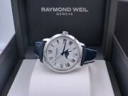 Raymond Weil Maestro Menand039s Moon Phase Automatic Leather Watch 2239-stc-00659