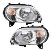 Pair Set Headlights Headlamp Clear Lens Housing Assembly For 2006-2011 Chevy Hhr