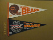 Nfl Chicago Bears Vintage 1980's 3d And Circa 1985 Nfc Champs Football Pennants