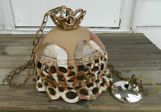 Beautiful Multi-color Hand Thrown Pottery Corky J. 3/82 Ceiling Lamp Fixture