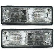 Front Headlights Headlamps Lights Lamps Lh And Rh Pair Set For 87-90 Chevy Caprice