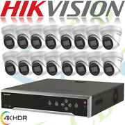 Hikvision 4k Cctv Security Network Ip System Outdoor Dome Hd Ir 8mp Cameras Nvr