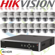 Hikvision 4k Cctv Security Network Ip System Outdoor Dome Hd Ir 8mp Camera Nvr