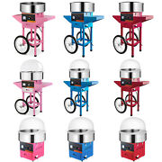 Electric Commercial Cotton Candy Machine Sugar Floss Maker Pink Blue Red Vevor