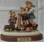 Hummel Figurine Scooter Time 2070 Signed Excellent Collectors Lot