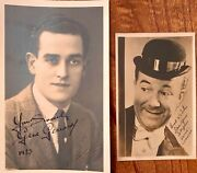 Gene Gerrard And Stainless Stephen 2 Comedy Film And Music Hall Stars Signed Photos