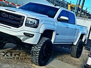 Painted 14-15 Gmc Sierra 1500 Extended Fender Flares Oem Color Match Smooth