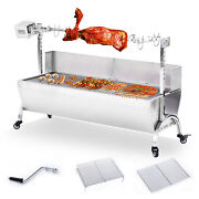 46 Stainless Steel Barbecue Bbq Grill Pig Roaster Chicken Lamb Beef Stick