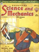 Science And Mechanics-1934 Feb--invisible Man Cover And Film Story--gernsback