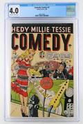 Comedy Comics 2 - Cgc 4.0 Vg - Timely 1948 - Hedy, Millie And Tessie