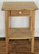 End Table Reclaimed American Chestnut Barnwood Side Table , Night Stand, Accent