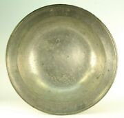 Antique Ad 1790 Pewter Large 13 Bowl Basin Signed And Dated Angel Mark
