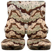 Full Set Front+rear Camo Desert Storm Car Seat Covers Fits 1989-1998 Geo Tracker