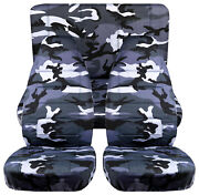 Full Set Front+rear Urban Camo Gray Car Seat Covers Fits 1989-1998 Geo Tracker