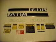 Tractor Decal Set With Caution Kit To Fit Kubota L245 K151 Hood