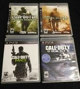 Call Of Duty Modern Warfare 1 2 3 And Ghosts Playstation 3 Ps3 Cod Complete