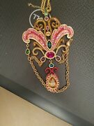 Massive Ornament Jeweled Runway Signed Jay Strongwater Enameled Necklace