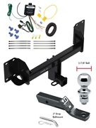 Trailer Tow Hitch For 19-20 Bmw X5 Except M Sport Package Wiring And 1-7/8 Ball