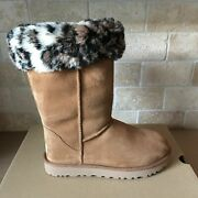 Ugg Classic Tall Ii Animal Suede Sheepskin Boots In Size Us 5-6new