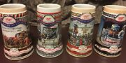 """Collectible Miller Beer Steins Lot Of 5 """"great American Achievements"""" 1986-1990"""