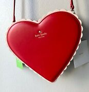 Nwt Kate Spade Yours Truly Red Heart Shaped Box Of Chocolates Clutch Crossbody