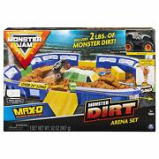 Monster Jam, Monster Dirt Arena 24 Playset With 2lbs Of Monster Dirt