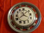 Mercedes Benz Metal Hubcap Clock