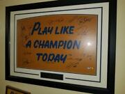 16 Notre Dame Football Greats Signed Framed Custom Matted 30 X 40 Play Like A Ch
