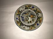 """Staffordshire Salopian Pearlware 6 1/8"""" Plate With Bird And Florals Ca. 1820"""