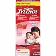 Infants Tylenol Pain Reliever Reducer Cherry Flavor Oral Suspension 2 36 Pack