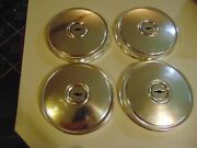 Set Of 4 Vintage 9 1/2 Chevy Dog Dish Hubcap Wheel Covers