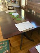 Duncan Phyfe Style Dining Table + 6 Chairs