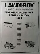 Lawn-boy Gilson Wards Lawn Garden Tractor Implement Attachments Parts Manual