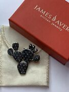 James Avery Sterling Silver Cactus Prickly Pear Pendant/pin