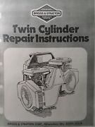Briggs And Stratton Twin Opposed Engine Service Manual Lawn Garden Tractor Welder