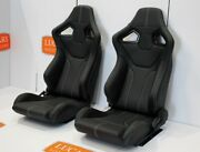 Rxi High Base White Stitch Front Pair Of Seats Fit Land Rover Defender 90 110