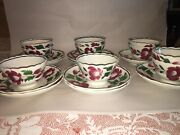 Staffordshire Pearlware Early Adams Rose Cup And Saucer 10 Sets Available 1820andrsquos