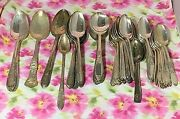Wm Rogers Eagle Star Silverplate Flatware Set 95 Pieces Two Patterns