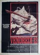 Friday The 13th - Jason / Grindhouse Killer - Ax - Original Large Movie Poster