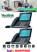 2 Yealink Sip-t58a Smart Video/media Android Hd 16-line Ip Phones Poe Bluetooth