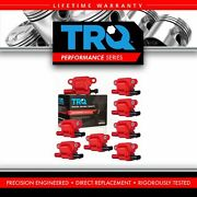 Trq 8 Piece Premium High Performance Ignition Coil Kit Square Type For Chevy Gmc