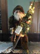 Ditz Design By Hen House Father Christmas Woodland X-mas -- Numbered 130/500