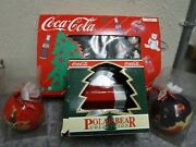 Coca Cola Ornaments And Polar Bear And Bottle Lights