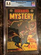 Shocking Mystery Cases 53 Cgc 5.5 Classic L.b. Cole Pch Skull Cover Unpressed