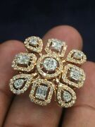 Pave 1.66 Cts Round Brilliant Cut Diamonds Wedding Ring In 750 Fine 18carat Gold
