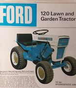 Ford 120 Hydrostatic Drive Lawn Garden Tractor Color Sales Brochure Manual 1967