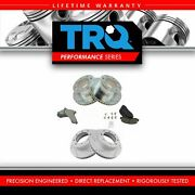 Trq Performance Drilled Slotted Brake Rotor And Ceramic Pad W/ Hardware Front Rear