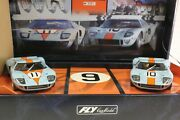 Fly Team 05 Ford Gt40 Gulf 24h Le Mans 1968 New 1/32 Slot Cars In Display Box