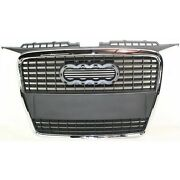 Grille For 2006-2008 Audi A3 A3 Quattro Chrome Shell W/ Paint To Match Insert