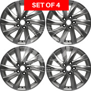 Four 17x7 New Replacement Alloy Wheel Rim Fits Mazda 6 2011- 2013 Aly64942u20n